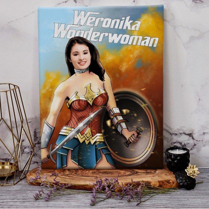 Wonderwoman - obraz z Twojego zdjęcia