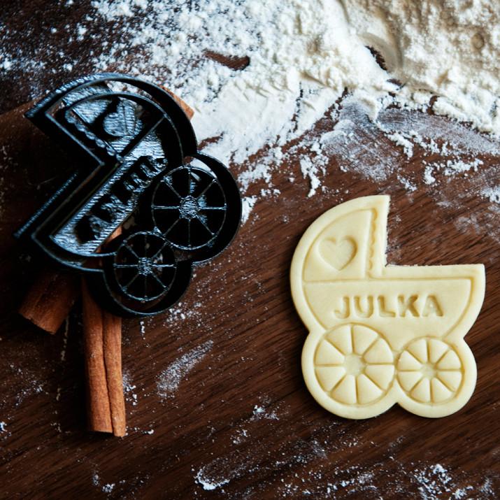 Wózek - personalizowana foremka 3D do ciastek