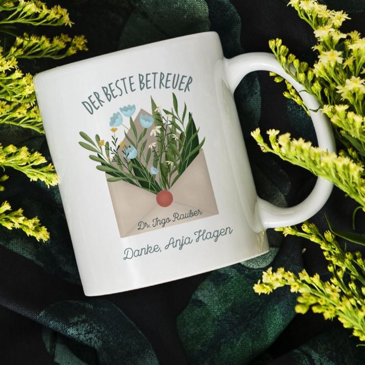 Bester Betreuer - personalisierte Tasse