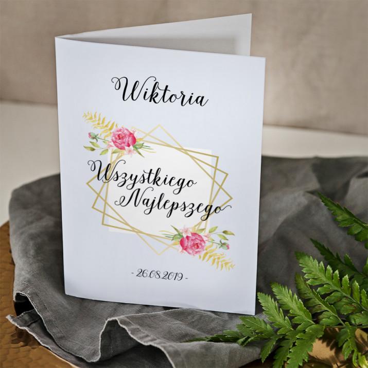 Wszystkiego najlepszego kwiaty - kartka z życzeniami