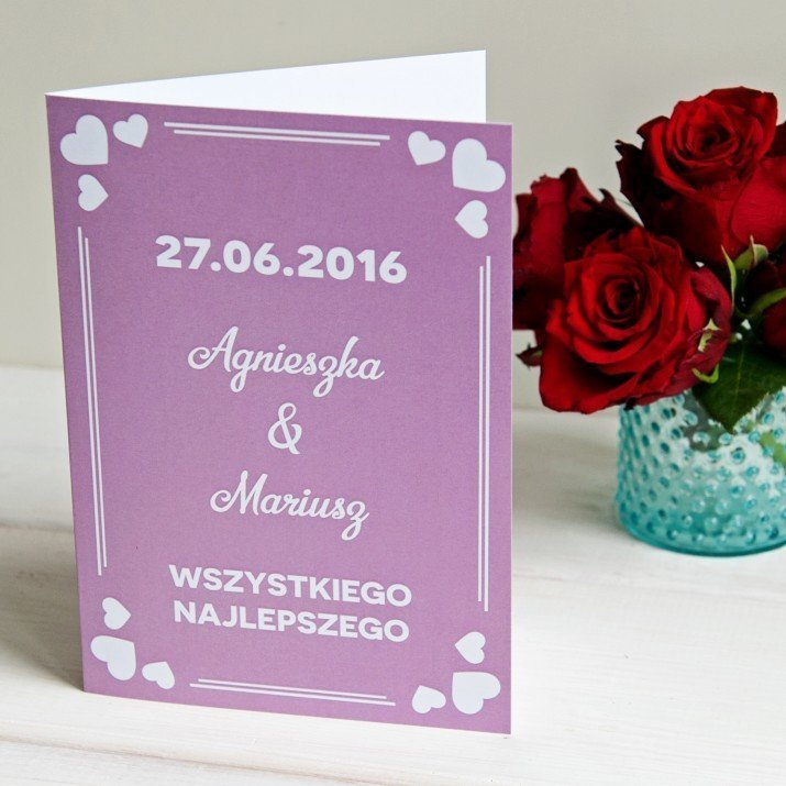 Wszystkiego najlepszego LOVE - kartka z życzeniami