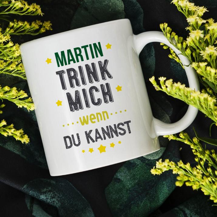Trink mich - personalisierte Tasse