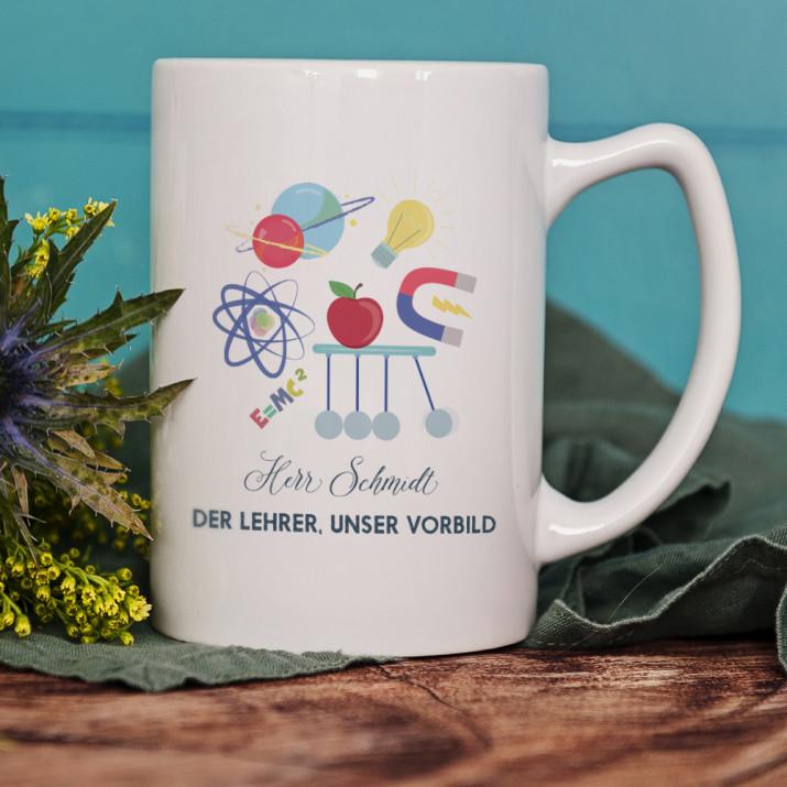 Der Lehrer, unser Vorbild - personalisierte Tasse