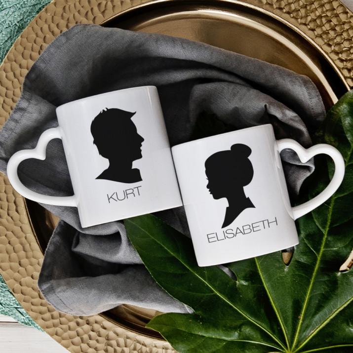 Im Profil - Tassen für Paare
