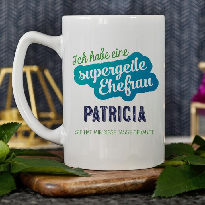 Supergeile Ehefrau - personalisierte Tasse