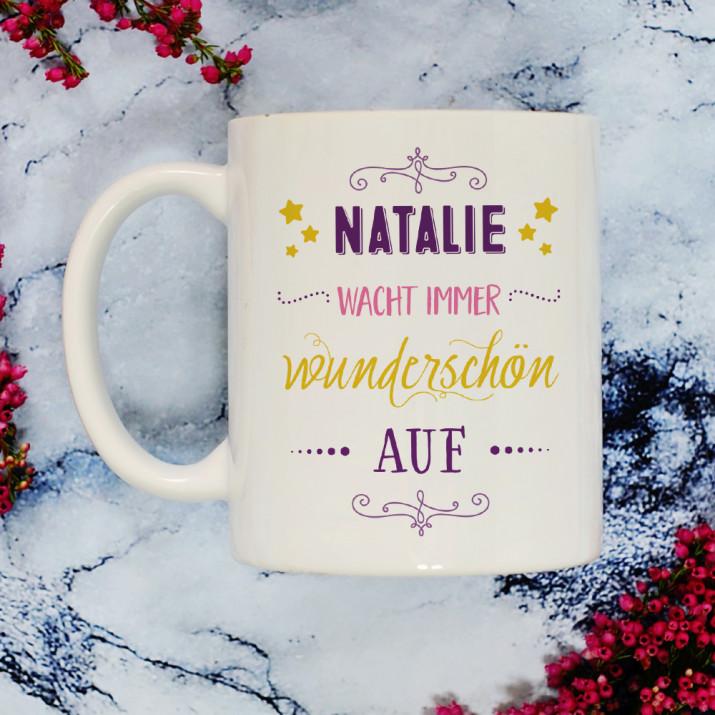Immer wunderschön - personalisierte Tasse
