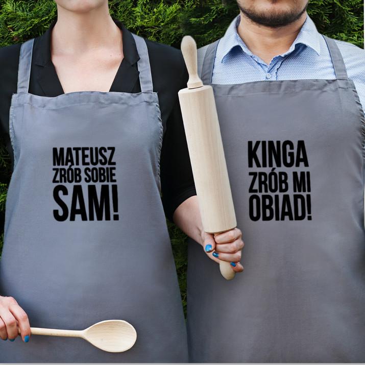 Zrób mi obiad - Zestaw dwóch fartuchów kuchennych