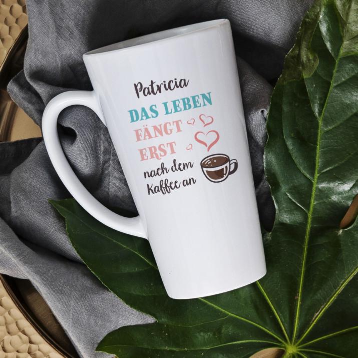 Leben nach Kaffee - personalisierte Tasse