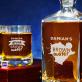 Brown Water - Zestaw Grawerowana Karafka I Szklanki Do Whisky
