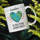 Ganze Welt - personalisierte Tasse