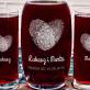 Fingerprints - Zestaw grawerowana karafka i dwie szklanki