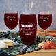Gin&Tonic - Zestaw grawerowana karafka i dwa kieliszki do wina