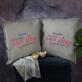 Love story - Zestaw Dwóch Poduszek Dekoracyjnych