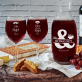 Mr&Mrs right - Zestaw grawerowana karafka i dwa kieliszki do wina