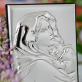 Na pamiątkę Chrztu - Matka Boska - Srebrny Obrazek z Grawerem