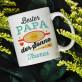 Bester Papa unter der Sonne - personalisierte Tasse