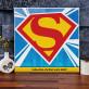S wie SuperMan - Leinwandbild