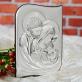 Sakrament Chrztu - Św. Rodzina - Srebrny Obrazek z Grawerem
