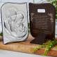 Ukochane Chrzestne Dziecię - Św. Rodzina - Srebrny Obrazek z Grawerem