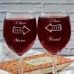 We love each other - Zestaw grawerowana karafka i dwa kieliszki do wina