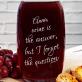 Wine is the answer - Grawerowana karafka