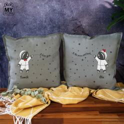 Poduszki z nadrukiem - prezent dla pary